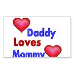 DADDY LOVES MOMMY Sticker