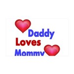 DADDY LOVES MOMMY Wall Decal