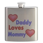 DADDY LOVES MOMMY Flask