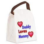 DADDY LOVES MOMMY Canvas Lunch Bag