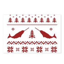 Ugly Narwhal Christmas Sweater Postcards (Package