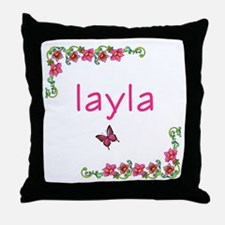 Butterfly & Flowers Layla Throw Pillow