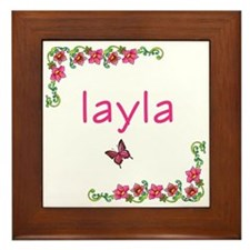 Butterfly & Flowers Layla Framed Tile