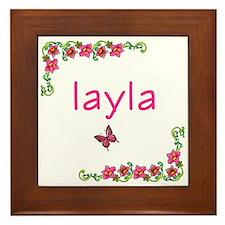 Butterfly & Flowers Layla Framed Tile