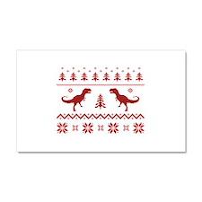 Ugly T-Rex Dinosaur Christmas Sweater Car Magnet 2