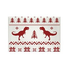 Ugly T-Rex Dinosaur Christmas Sweater Magnets