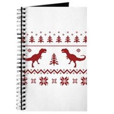 Ugly T-Rex Dinosaur Christmas Sweater Journal