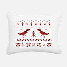 Ugly T-Rex Dinosaur Christmas Sweater Rectangular