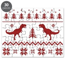 Ugly T-Rex Dinosaur Christmas Sweater Puzzle