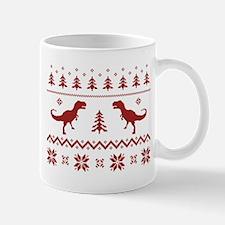 Ugly T-Rex Dinosaur Christmas Sweater Mugs