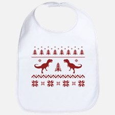 Ugly T-Rex Dinosaur Christmas Sweater Bib