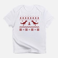 Ugly T-Rex Dinosaur Christmas Sweater Infant T-Shi