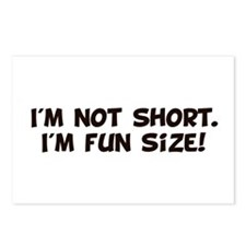 Im Not Short Im Fun Size Postcards (Package of 8)