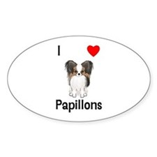 I Love Papillons (pic) Decal