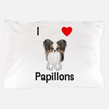 I Love Papillons (pic) Pillow Case