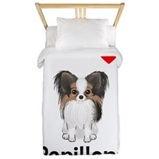 I Love Papillons (pic) Twin Duvet