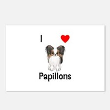I Love Papillons (pic) Postcards (Package of 8)