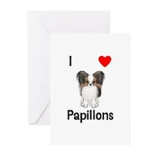 I Love Papillons (pic) Greeting Cards (Pk of 10)