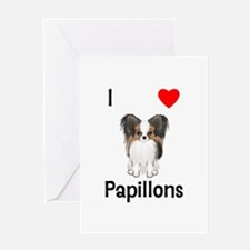 I Love Papillons (pic) Greeting Card