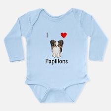I Love Papillons (pic) Long Sleeve Infant Bodysuit