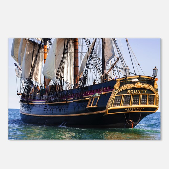 HMS Bounty Tall Ship Postcards (Package of 8)