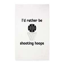 I'd Rather Be Shooting Hoops 3'x5' Area Rug