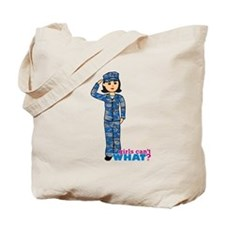 Navy Camo Medium Tote Bag