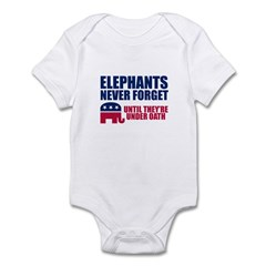 ELEPHANTS NEVER FORGET Infant Bodysuit