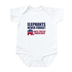 ELEPHANTS NEVER FORGET Infant Bodysuit