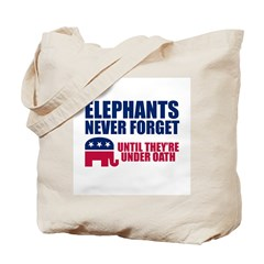 ELEPHANTS NEVER FORGET Tote Bag