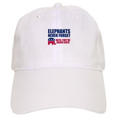 ELEPHANTS NEVER FORGET Baseball Cap