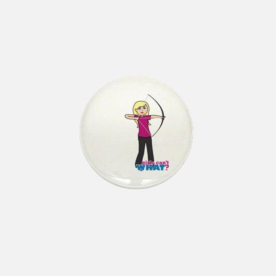 Archery Girl Light/Blonde Mini Button