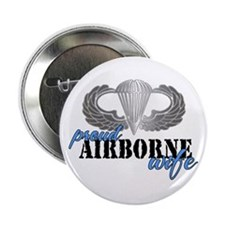 Proud Airborne Wife Button