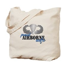 Proud Airborne Wife Tote Bag