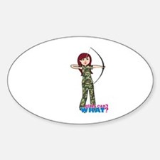 Archery Girl Light Decal