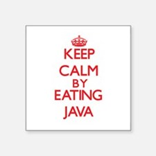 Keep calm by eating Java Sticker