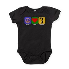 Peace Love Bigfoot Baby Bodysuit