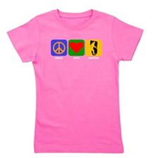 Peace Love Bigfoot Girl's Tee