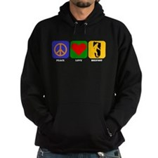 Peace Love Bigfoot Hoodie