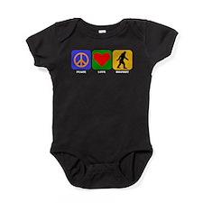 Peace Love Bigfoot Baby Bodysuit