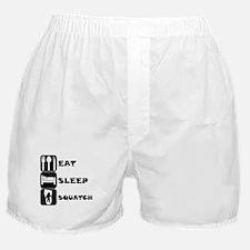 Eat Sleep Squatch Boxer Shorts