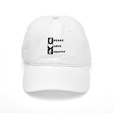Peace Love Squatch Baseball Baseball Cap