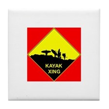 Kayak Xing Tile Coaster