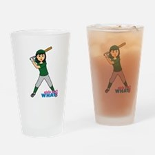 Girl Ball Player Medium Drinking Glass