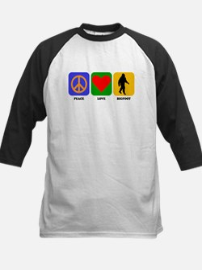 Peace Love Bigfoot Baseball Jersey