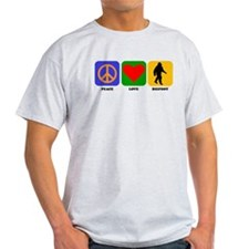 Peace Love Bigfoot T-Shirt