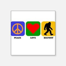 Peace Love Bigfoot Sticker