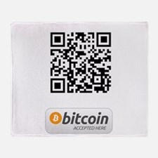 Bitcoin Accepted Here Throw Blanket