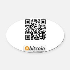 Bitcoin Accepted Here Oval Car Magnet