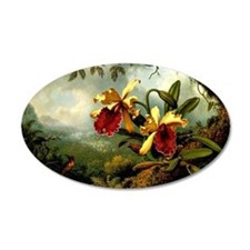 Orchids and Hummingbird, vin Wall Decal